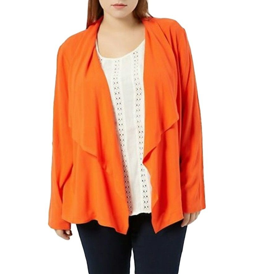 New Look Orange Waterfall Cardigan Blazer Kimono Top